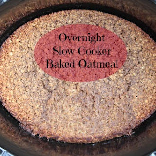 Overnight Slow Cooker Baked Oatmeal