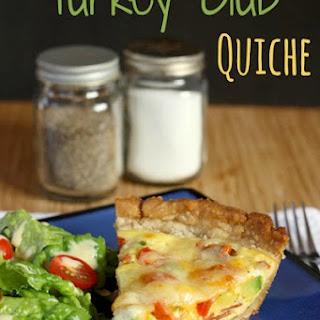 Turkey Club Quiche {with a #glutenfree option}