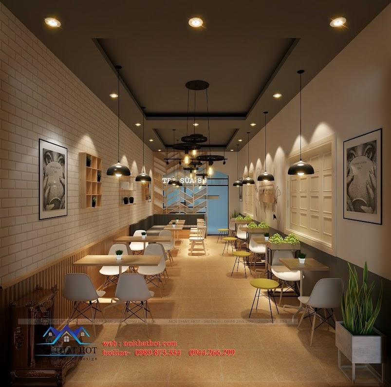 Thiết kế quán trà sữa tại hà nội