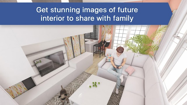 3D Living Room for IKEA - Interior Design Planner - screenshot