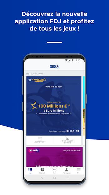 FDJ® – Loto, Euromillions, Jeux et résultats Android App Screenshot