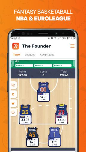 Dunkest - Fantasy Basketball NBA et Euroligue  captures d'u00e9cran 1