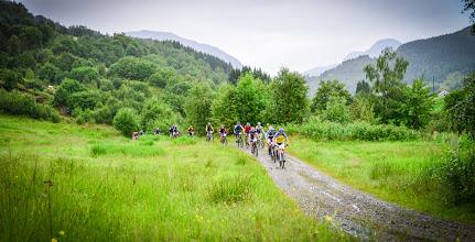 Photo: Første pulje (rekordpuljen) på vei mot Håland