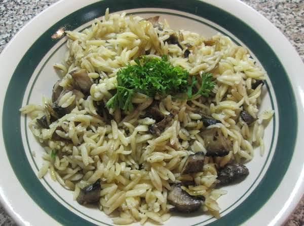 Orzo Pasta W/ Portobello Mushrooms Recipe