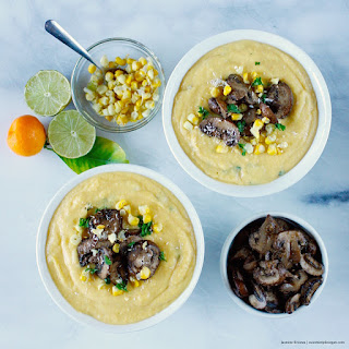 Creamy Baobab Coconut Corn Soup, Sauce & Dip (low-fat, oil-free).