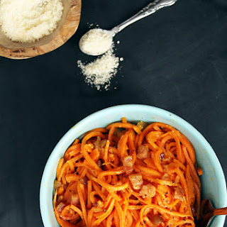 Sweet Potato Noodle Carbonara