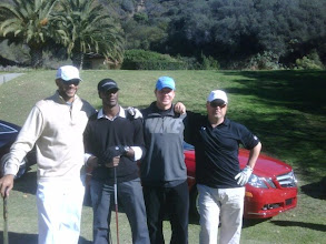 Photo: L-r: Stephen Bishop, Aldis Hodge, Kenny Johnson & Michael Chiklis at the 2nd Annual Scott Medlock Celebrity Invitational to benefit the Pat Tillman Foundation.  Mercedes Benz sponsored a hole in one with four new Mercedes.  The closest ball was within three inches of the hole!