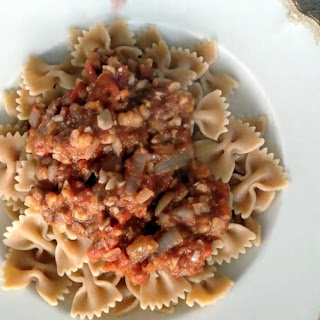 Bolognese Sauce Recipe with Nuts.