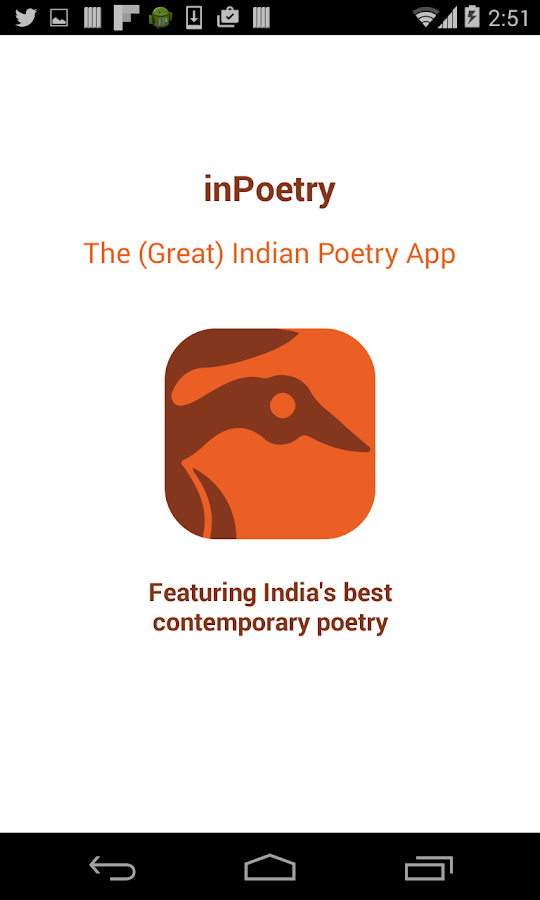 inPoetry- screenshot