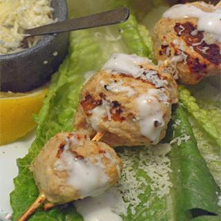 Chicken Caesar Kebabs