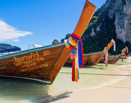 Tipica barca dei pescatori thailandese di Fabien