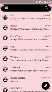 Bow Pink SMS Zprávy - náhled