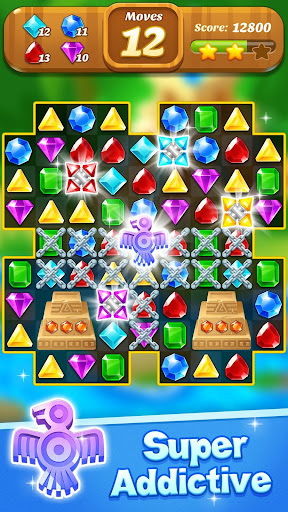 Jewel & Gems Mania 2020 - Match In Temple & Jungle apktram screenshots 6
