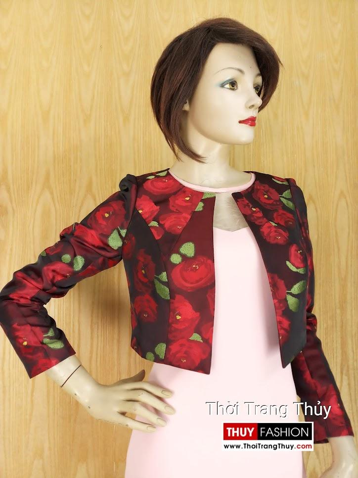 Áo khoác cộc nữ kiểu dài tay thu đông V639 Thời Trang Thủy Hải Phòng