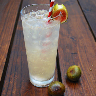 Sparkling Fig Puff Cocktail.