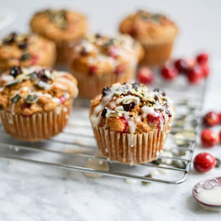 Maple Pumpkin Cranberry Muffins | Dairy-Free, Refined Sugar-Free, Vegan + Gluten-Free Options.