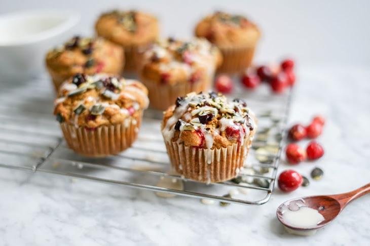 Maple Pumpkin Cranberry Muffins   Dairy-Free, Refined Sugar-Free, Vegan + Gluten-Free Options Recipe