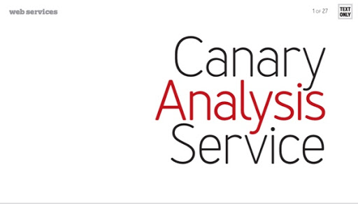 Canary Analysis Service