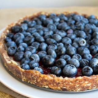 No Bake Blueberry Custard Pie