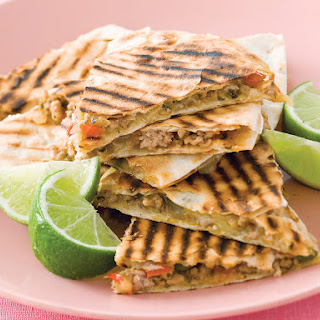 Chili Pork Quesadillas.