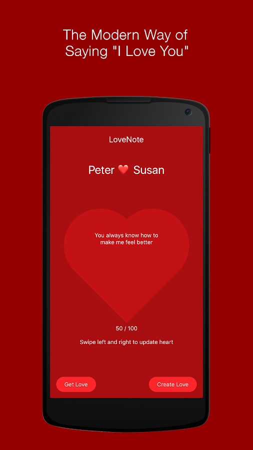 LoveNote - The True Love App- screenshot