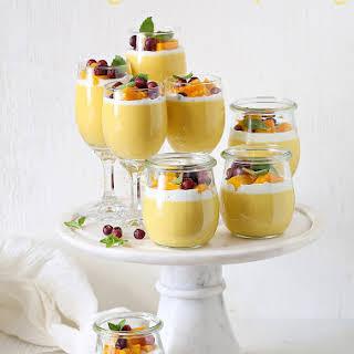Mango Coconut Pudding.