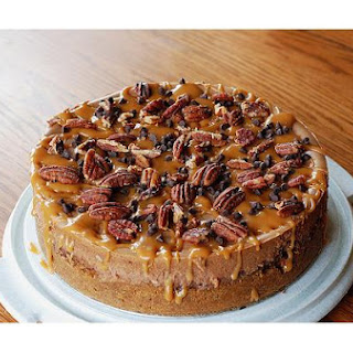Chocolate, Caramel, Pecan Cheesecake