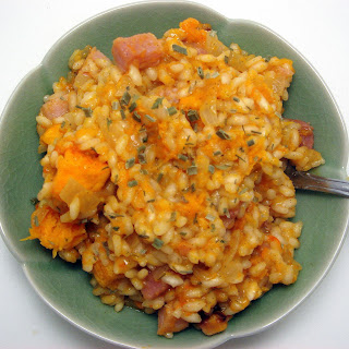 late October tidbits | butternut squash vanilla risotto with smoked ham