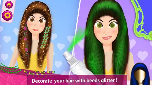 Girls Hair Salon 2019 :  Hair Colors Makeover Game 1.2 screenshots 1