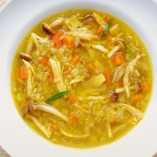 Roasted Chicken and Brown Rice Soup.