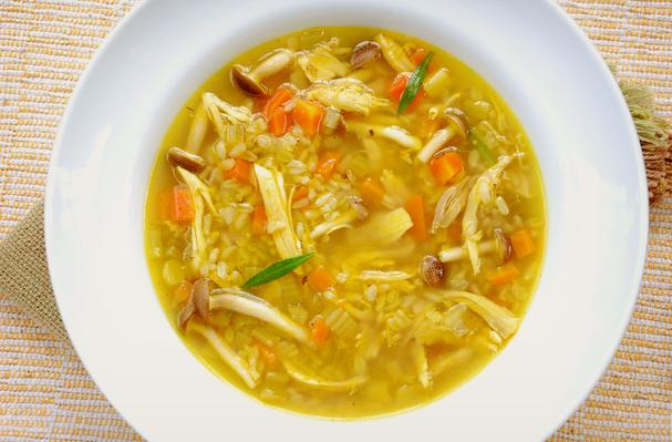 Roasted Chicken and Brown Rice Soup Recipe