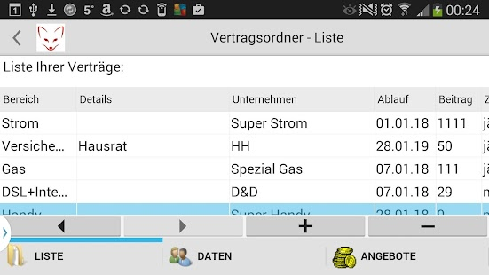 SparFuchs  Gas Strom DSL Handy- screenshot thumbnail