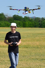 Photo: Me controlling the tricopter!