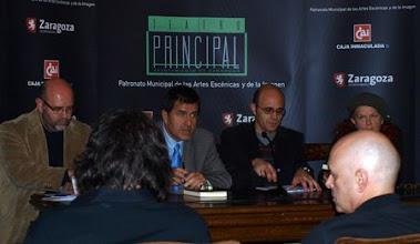 Photo: Teatro Principal de Zaragoza, con Antón Castro y Ramón Miranda