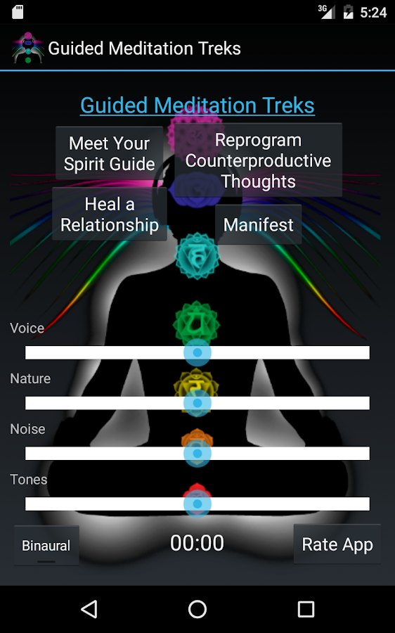 Guided Meditation Treks- screenshot