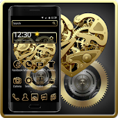 Black Golden Metal Theme