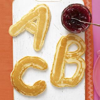 Alphabet Pancakes.