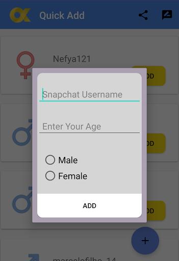 QuickAdd , New Friends For SnapChat cheat hacks