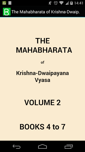 The Mahabharata Volume 2