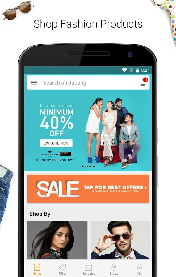 e561abdf19f5a7 Jabong-Online Fashion Shopping APK Cracked Free Download