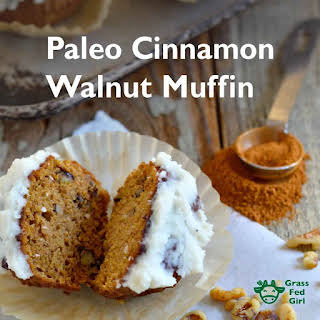 Low Carb Breakfast Muffins with Cinnamon, Walnuts and Tahini (Paleo, gluten free, dairy free, nut free).