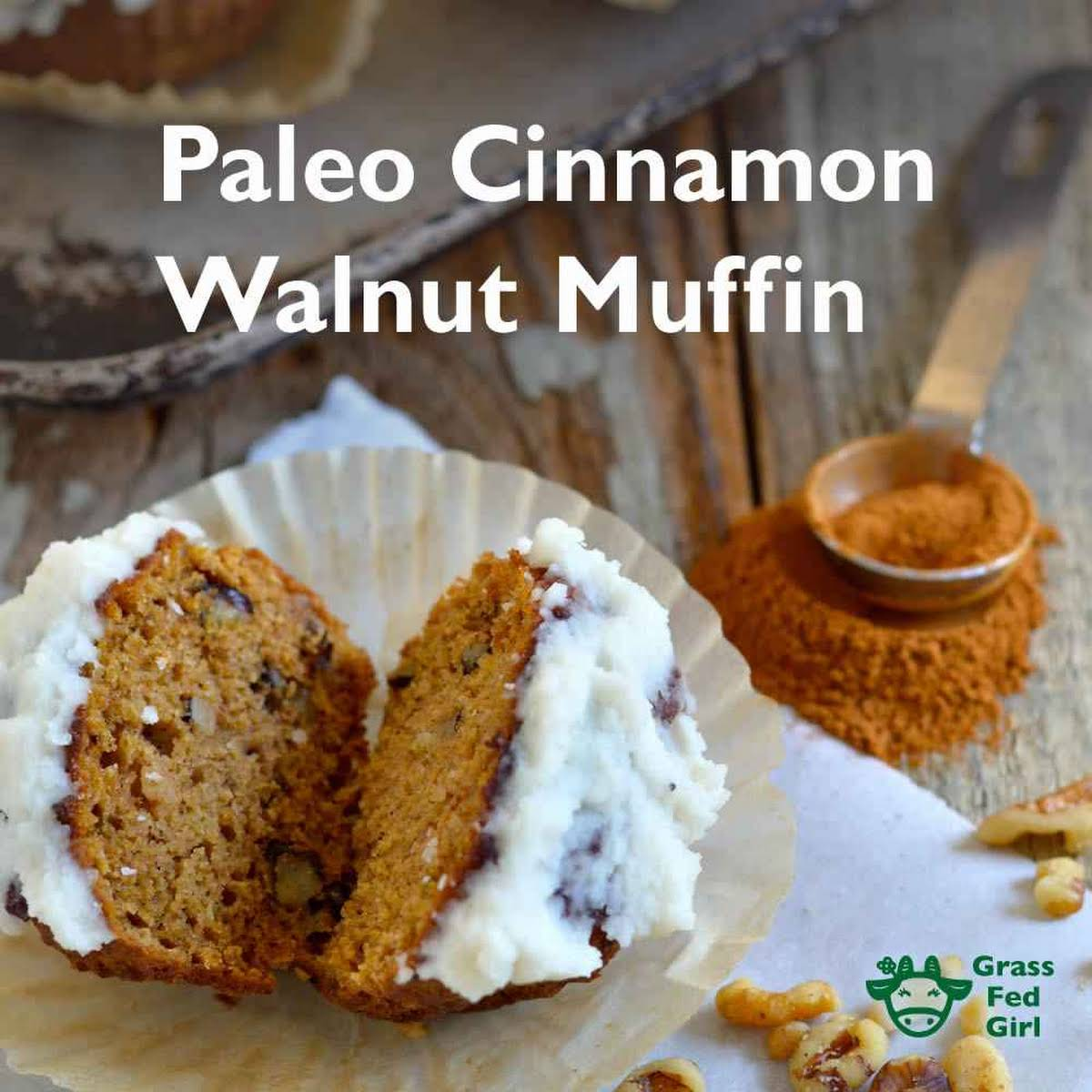 Low Carb Breakfast Muffins  subsequently Cinnamon, Walnuts and Tahini (Paleo, gluten free, dairy free, nut free)