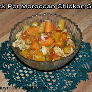 Crock Pot Moroccan Chicken Stew.