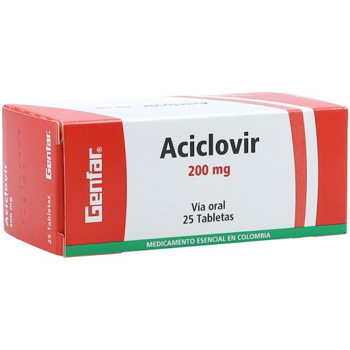 aciclovir 200mg 25 tab genfar