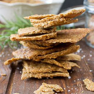 Garlic and Herb Flax Crackers [Vegan, Gluten-Free, Grain-Free]
