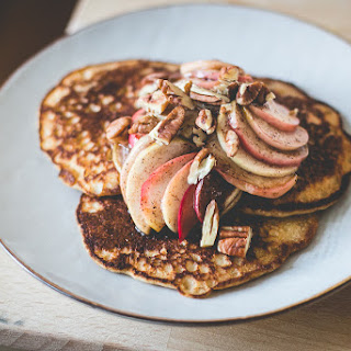 Sourdough Pancakes w/ Caramelized Apples