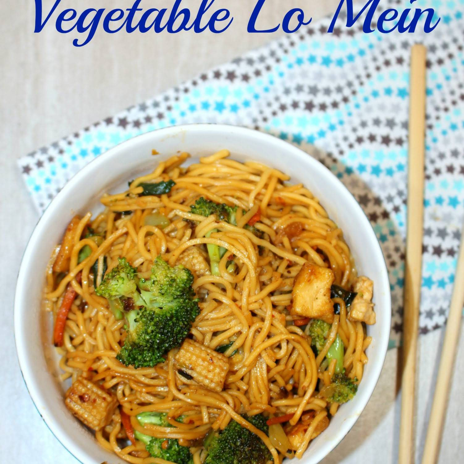 Vegetable Lo Mein – Chinese Vegetable and Tofu Lo Mein