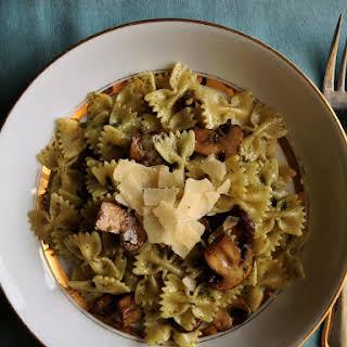 Mushroom And Pesto Pasta.