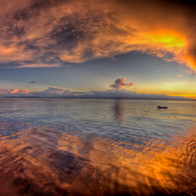 west papua sunset by Paul Cowell - Landscapes Waterscapes