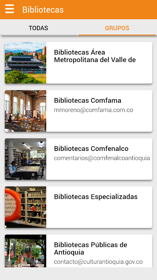 Red de Bibliotecas- screenshot